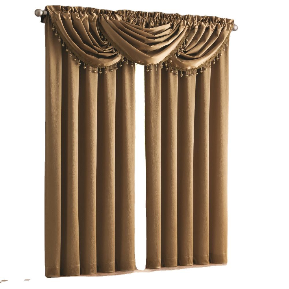 Европа золото сатин раздавить шторы для гостиной роскошный Твердый толстый занавес Окно лечение для спальни кухня жалюзи