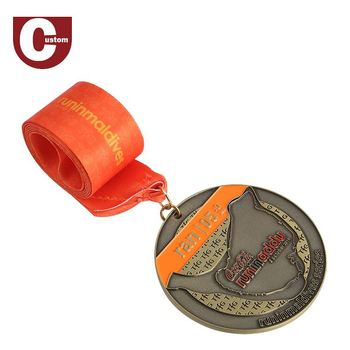 Best Quality Metal Crafts Factory Sports Award Silver Plated Medal Medallion