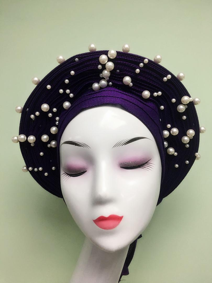 Delivery fast auto gele headties 2019 hot selling african scarf in nigerian wedding fabrics