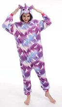 Зимняя Фланелевая пижама с капюшоном и единорогом Kigurumi, Пижама для женщин и взрослых, Сексуальная Домашняя одежда, Семейные пижамы, 2020(Китай)
