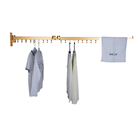Aluminum Alloy Wall Mount Balcony Telescopic Clothes Drying Rack Foldable Retractable Clothes Drying Rack