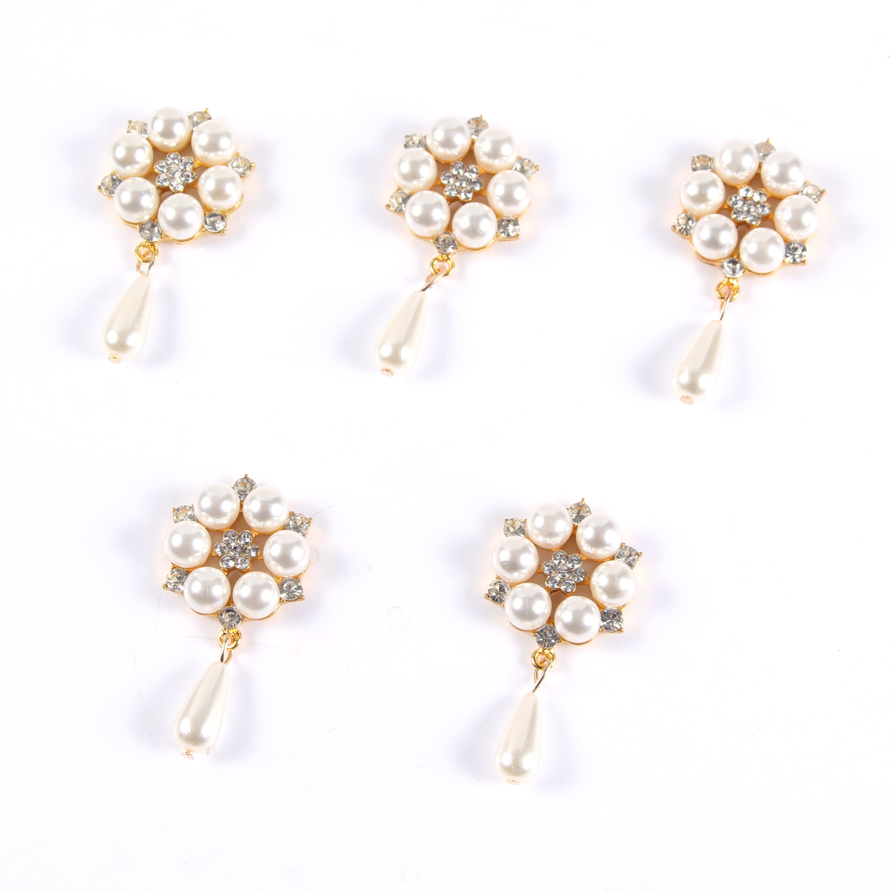 Yeni broş kristal çiçek şerit ilmek taklidi yaka gömlek aksesuarı inci süsleme düğmesi