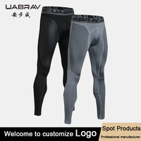 custom blank compression pants men running sports leggings fitness men gym training leggings
