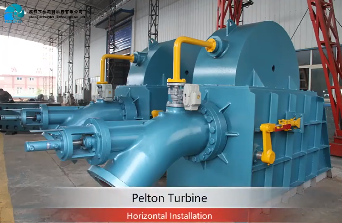 High Quality Hydro Pelton Turbine 100 KW Pelton Wheel Water Turbine Generator
