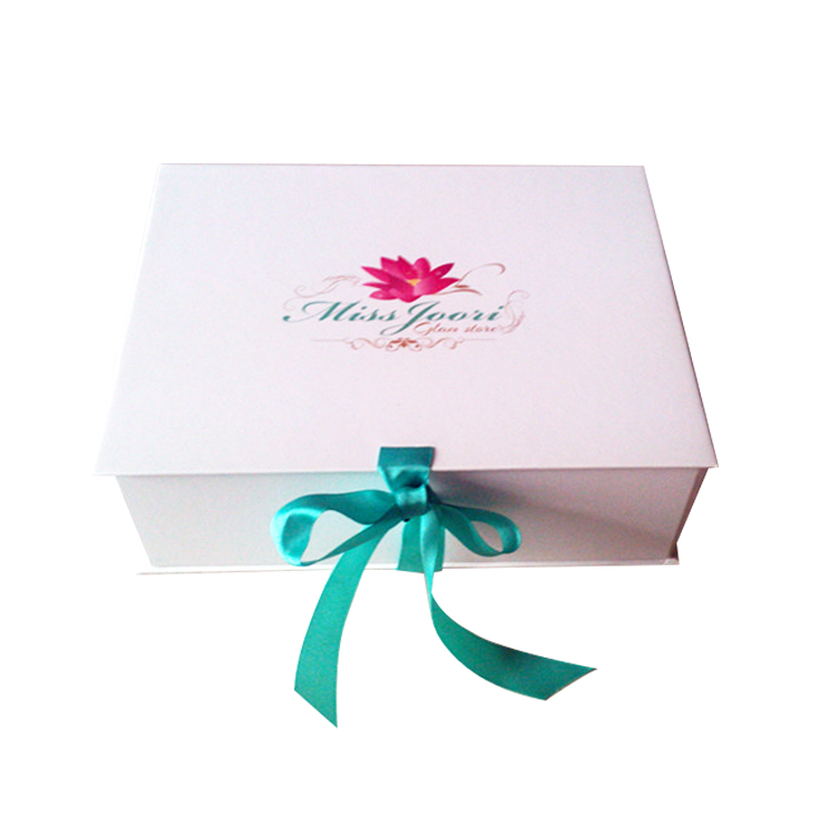High-grade Elegant Full Color Ribbon Folding Paper Cosmetic Box