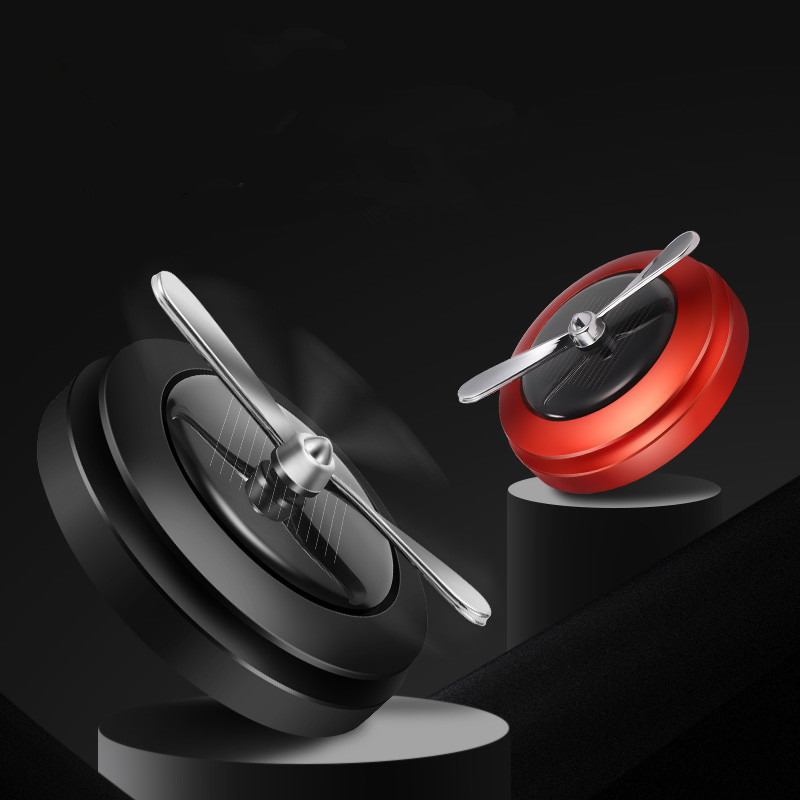 Car solar energy air perfume and aromatherapy metal solid essential oil diffuser