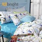 Stock tissus birds fabrics textiles bedding printing bedsheet cotton printed fabric