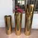 Manufacturers china stainless steel tall artificial plants flowers pots