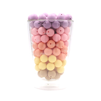 Wholesale 12mm BPA Free Silicone Teething Beads For Baby Clip Chain