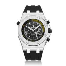 Швейцарский Королевский Rolexable автоматические механические мужские модные двухглазные силиконовый ремень водонепроницаемые часы reloj hombre(Китай)