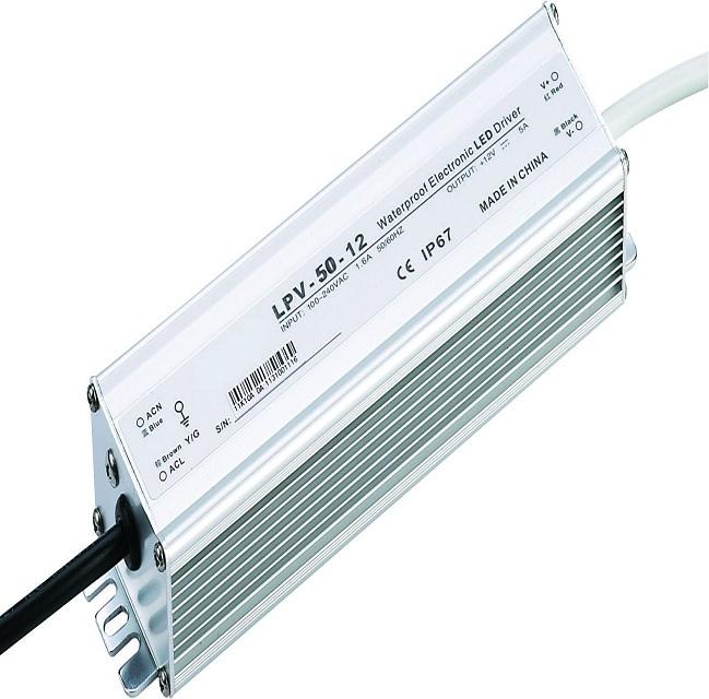 Constant voltage led driver input voltage 100240v 24v 50w waterproof electronic led driver