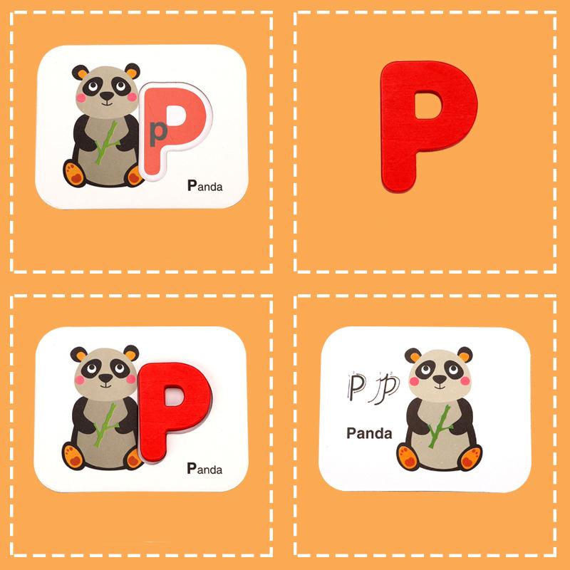 Alphabet Und Anzahl Flash Karten Holz Jigsaw Puzzle Peg ...