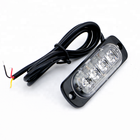 12v Emergency Vehicles car 4 LED flash Light Amber Red Blue Truck Strobe LED Flashing Warning Light