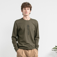 LILANZ / high quality fashion men's round neck army green pullover hoodies sweatshirts