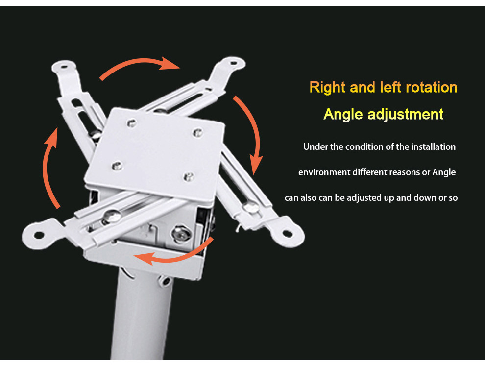 Universal Projector Ceiling Mount Kit with Telescoping Height & Angle Adjustment YG1500