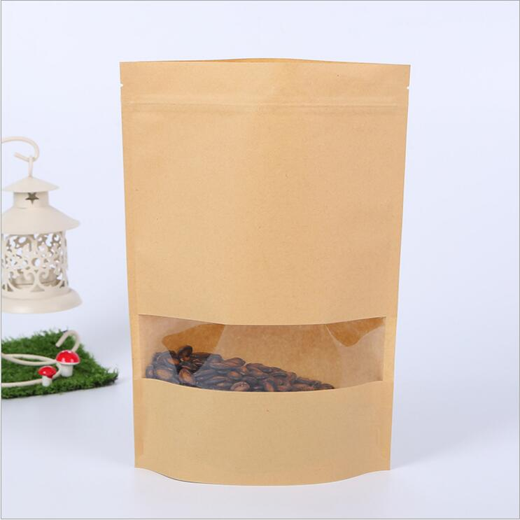 Super September Food Packaging Ziplock Stand Up Kraft Paper Bag wholesale