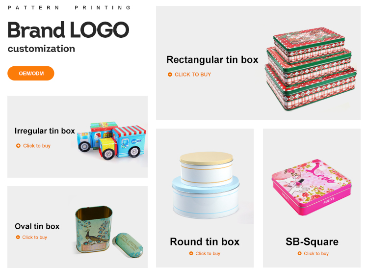 Logo personnalisé boîtes De Conserve Rondes En Métal Pour Boîtes à Café