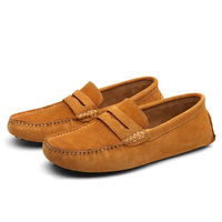 Men Casual Shoes Classic Original Suede Leather Penny Loafers Slip On Flats Male Moccasins Casual Shoes
