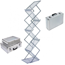 6 strato di A4 Portatile brochure holder fold-up rivista cremagliera del banco di mostra Brochure display Holder
