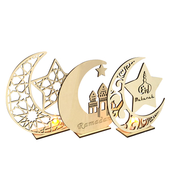 Wood laser cutting Creative ornaments Islamic national holiday ornaments crafts home decoration wood products