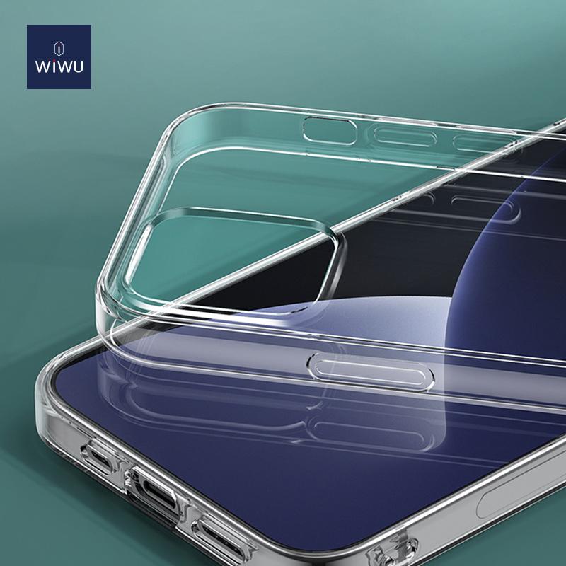 WiWU Clear TPU Acrylic Shockproof Phone Case for iPhone 12