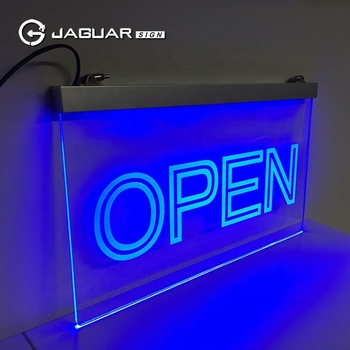 Factory outlet outdoor led open sign shop open neon sign