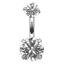 Кольцо из нержавеющей стали с кристаллами для пирсинга живота, пупковое кольцо, пирсинг для женщин, мутликолор, модное ювелирное изделие дл...(Китай)