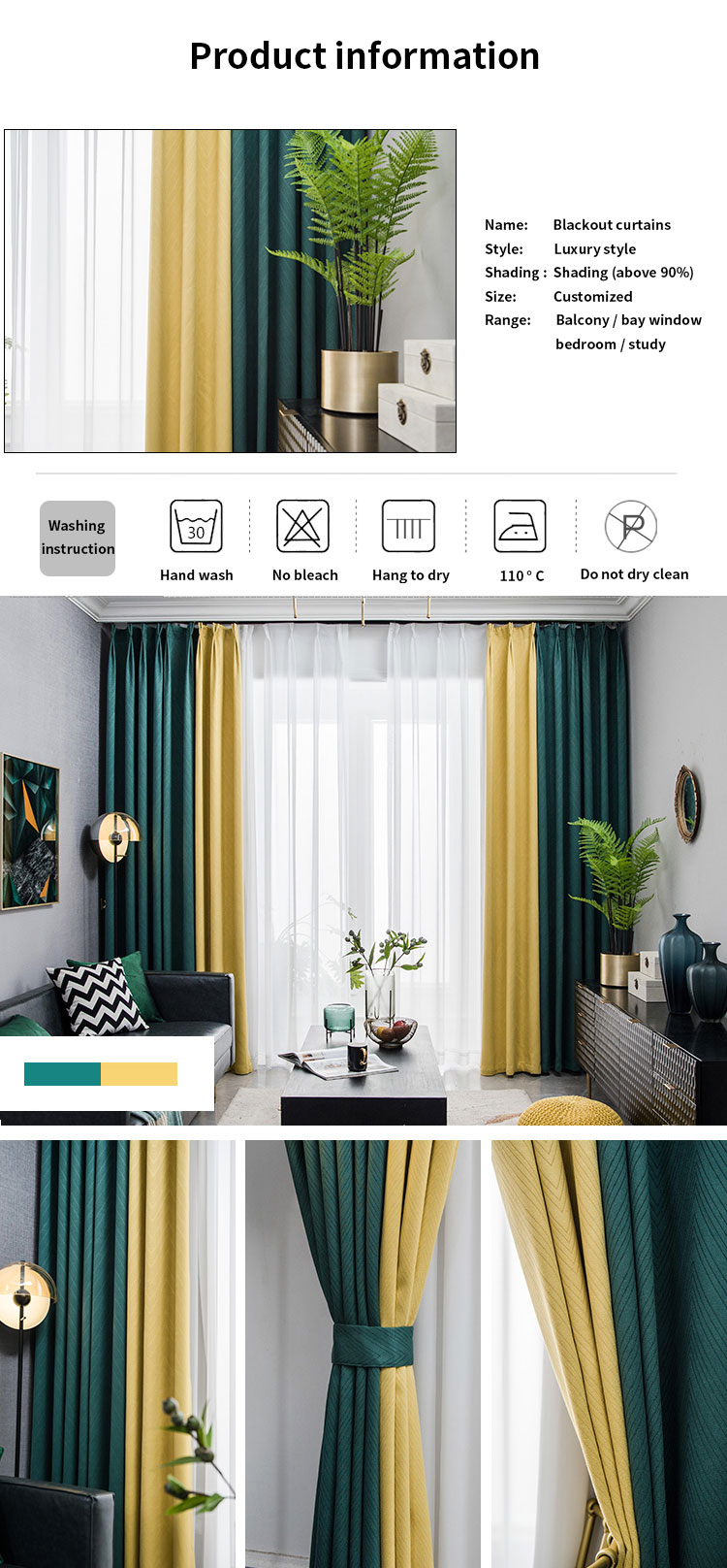 High Quality New Design European Windows curtains