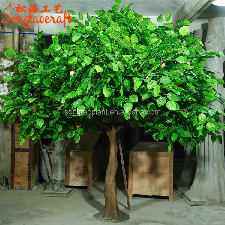 Songtao Factory Artificial Green Apple <strong>Tree</strong> Fake Apple Mango <strong>Tree</strong> Plant For Christmas <strong>Home</strong> Decoration