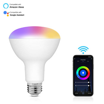 10W 1100lm WiFi Smart LED Bulb Home Lighting BR30 B22 E26 E27 Smart Light