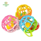 Wholesale kids gift colored plastic musical flash light baby rubber ball toys