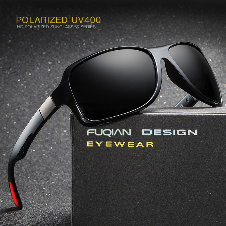 Fuqian polarized black flys sunglasses customized for running-5