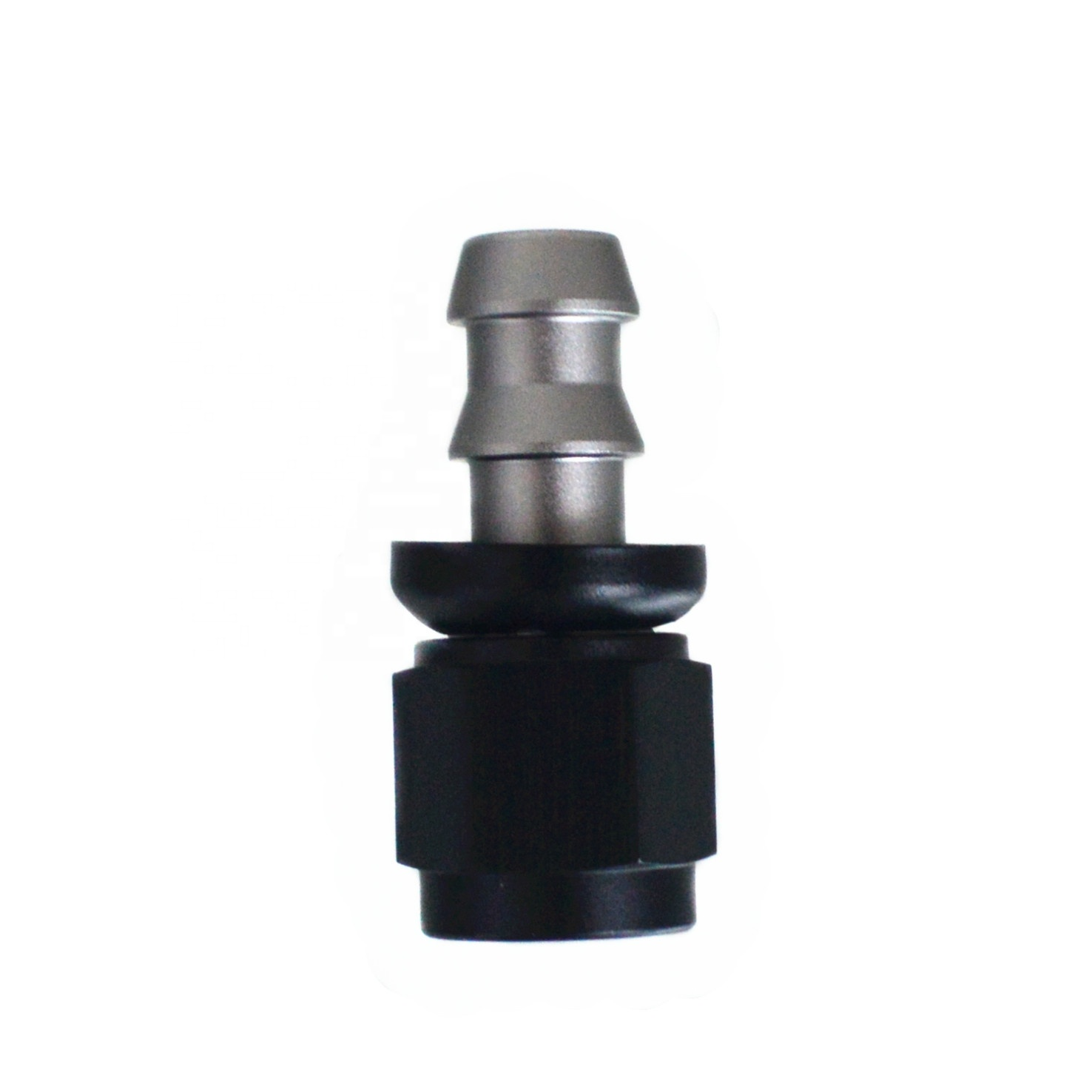 Anodized Aluminum AN Push Lock Fitting disconnect swivel Hose Barb fitting for Braided Fuel Hose Line