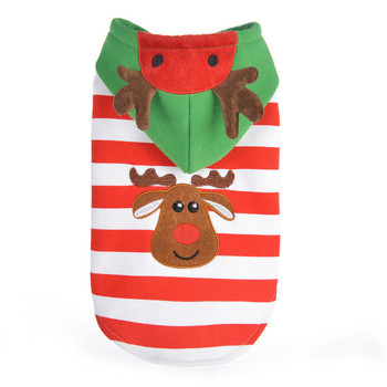 Christmas wear dog products striped elk pet clothes christmas