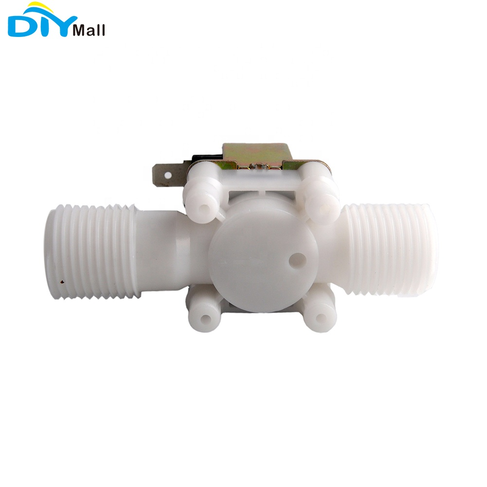 "Plastic Electric Solenoid Valve Magnetic DC 12V N/C Water Air Inlet Flow Switch 1/2"" 50/60mhz 0.02-0.8MPA"