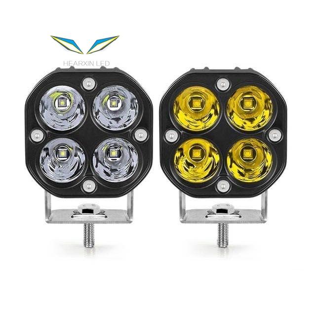 3 inch Mini led work light Square 40W Car Yellow White Spotlight 12V 24V Jeep fog lamp For Lada Truck 4X4 4WD Car accessorie