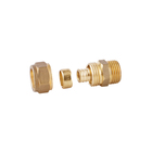 Brass Fitting [ Union ] Fitting Straight Straight Male Union Compression Fitting For Pex Pipe Brass Fitting