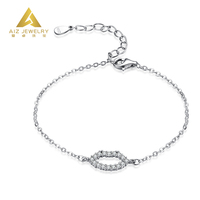 Hot Sell Adjustable Wire Bangle Wholesale Personalised Sterling Silver 925 Bracelet with Lip Shaped
