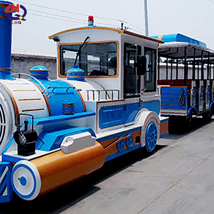 Amusement park ride electric children trackless tourist train