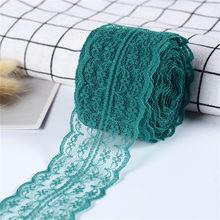 10 м/рулон 4,5 см кружевная лента, ткань для одежды, сделай сам, вышитый сетчатый шнур для украшения шитья, африканская кружевная ткань, материа...(Китай)