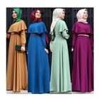 Muslim Party Dress Abaya Long Dress Colorful Latest Hijab Abaya Designs Dubai Dresses With Belt