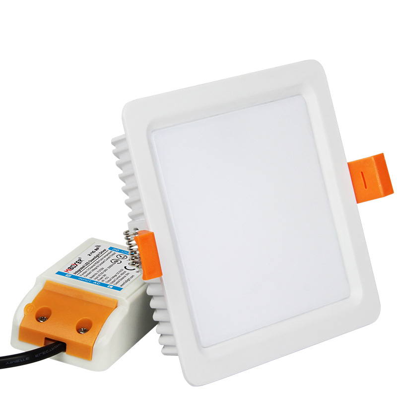 Smart ultra slim trimless fire rated spot recessed 9w led panel square downlight rgb+cct adjustable