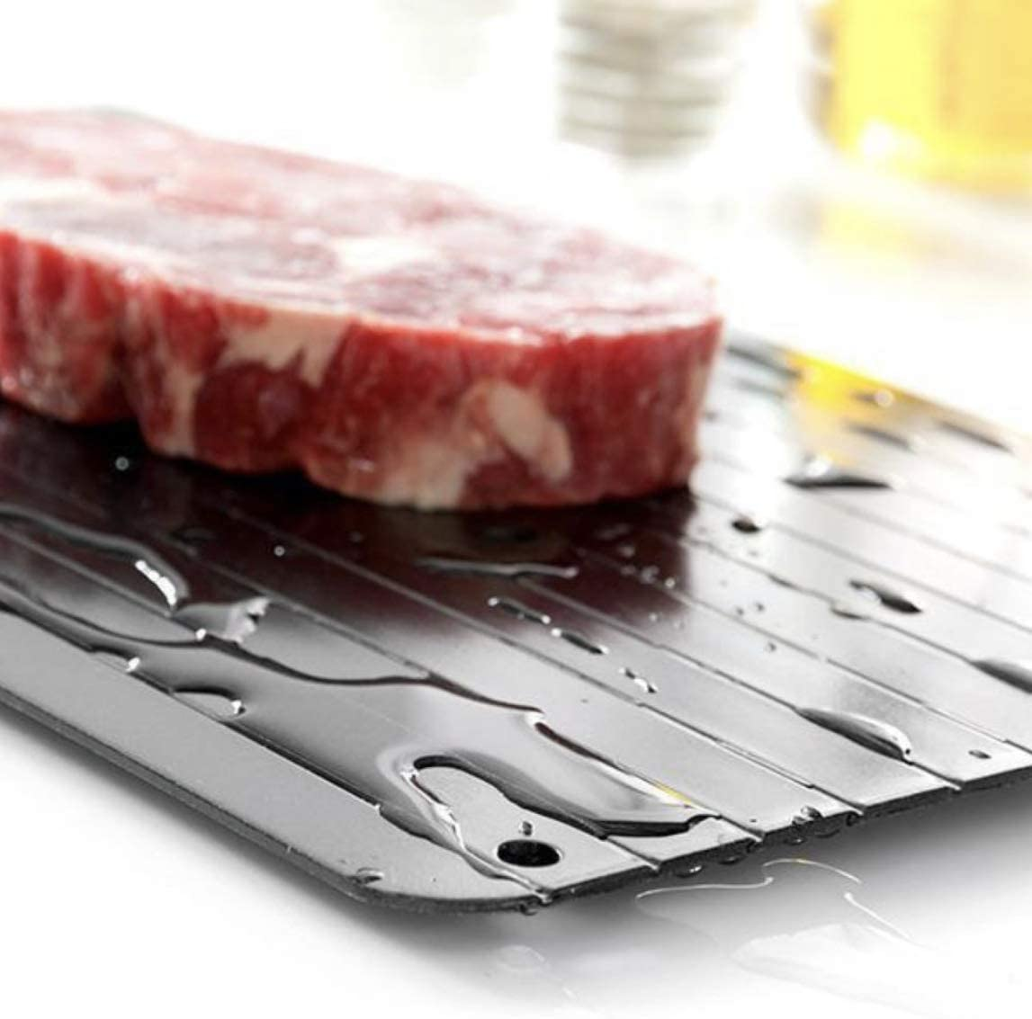 Large Quick Miracle Non Stick Fast Thaw Defrost Frozen Food Meat Defrosting Tray Pad