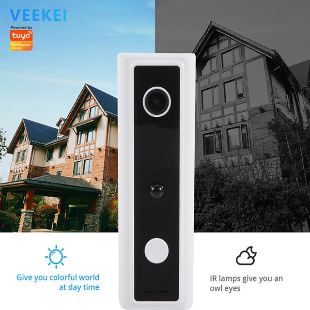 Veekei 1080P Wifi Ring Video Doorbell Securityกล้องและTwo Way Audio Intercomโทรศัพท์และMotionการตรวจจับ