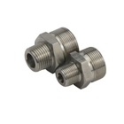 Male Male Hydraulic Nipple Adapter Stainless Steel BSP/BSPT Male Hydraulic Transition Adapter Reducing Pipe Hex Nipple