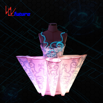 WL-010 LED Skirt LED Chinese Traditional dress girls dresses LED Dance Costumes for performance or show