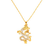 x0403 2020 Spring Summer New Arrival Classic Design Gifts Gold Plated Chinese Dragon Necklace Pendant