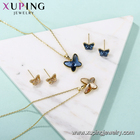 SET-2 Xuping Crystals from Swarovski 14k gold color plated butterfly style fashion women jewelry set