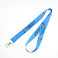 Coming 2020 Polyester Lanyards Id Badge Holder Dye Sublimation Neck Strap Lanyard With Logo Custom