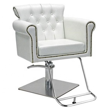 cheap barber chair beauty salon white hair styling chair with crystal